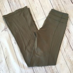 LULULEMON ATHLETICA Olive Green Groove Yoga Pants